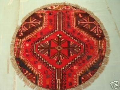 218: Round Persian Shiraz Rug 4x4