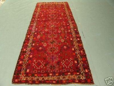 220: Semi Antique Afghan Kurdish Runner Rug 9x4
