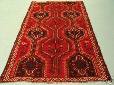 221: Semi Antique Rugs Persian Kashkoli Rug 8x5