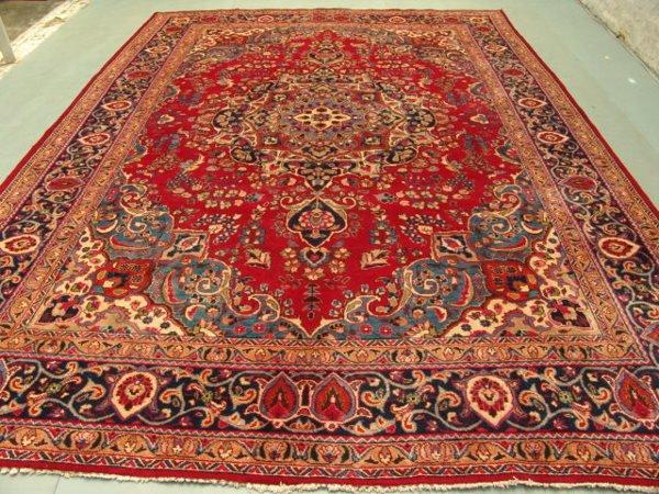 223: Stunning Large Persian Mashad Rug 13x10