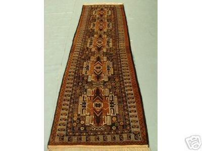 323: Semi Antique Afghan Herati Runner Rug 9x3