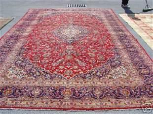 Stunning Large Palace Persian Kashan Rug 14x9
