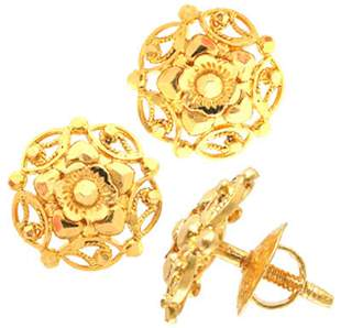 22KY Siam Thai hadcrafted screw back earrings