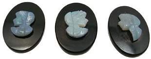 3pc. Loose Opal Intaglio Cameo