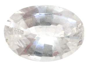 2.05+ct White Sapphire Oval loose