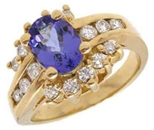 .85ct Fine Tanzanite Ring w/.50ctw Diamonds