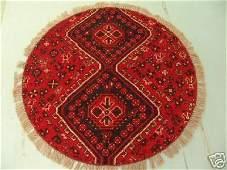 3270: Round Persian Qashqai Rug 4x4