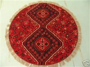 Round Persian Qashqai Rug 4x4