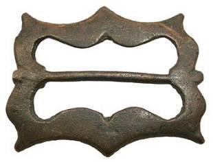 Medieval bronze belt buckle appx 1000-1600 AD.