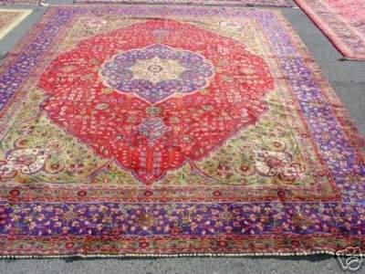 3324: Stunning Large Persian Tabriz Rug 12x10