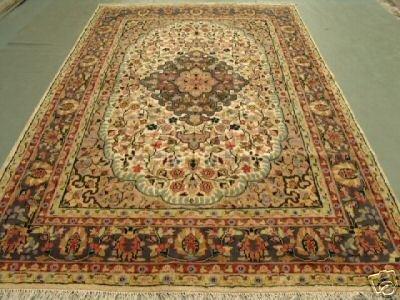 3348: Kashmir Silk & Wool Pile Cashmiri Rug 10x7
