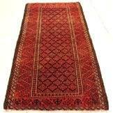 3222: Semi Antique Rugs Persian Meshkin Rug 6x3