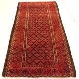 3222: 3222: Semi Antique Rugs Persian Meshkin Rug 6x3