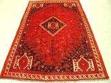 3223: Semi Antique Rugs Persian Shiraz Rug 8x5