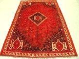 3223: 3223: Semi Antique Rugs Persian Shiraz Rug 8x5