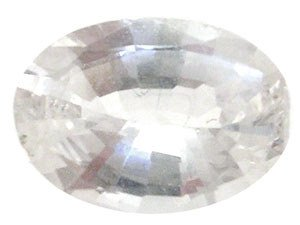 5306: 1.00ct White Sapphire Oval loose
