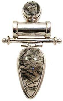 5317: Tourmalinated quartz pendant
