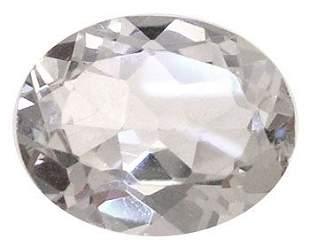 2.90ct White Zircon Oval Loose gem