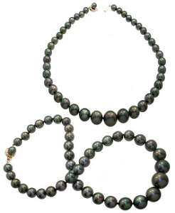 367: 14YG 9-15mm 42 Tahitian pearl necklace