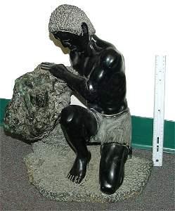 372: Emerald Statue Solid Crystal and Matrix