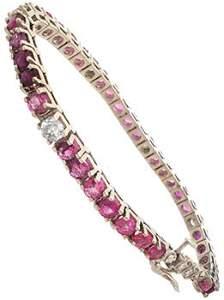 410: 14KW 10cttw Pink Sapphire Diamond bracelet
