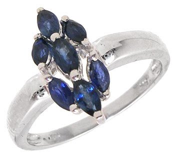 1275: 14KW .80cttw Sapphire marquise ring