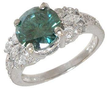 1416: 18KWG 1.43ct Diamond .55cttw Diamond ring