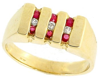 2277: .45ct ruby diamond channel mix ladies ring