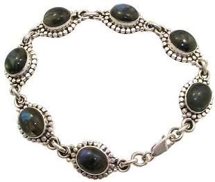 SSilver Labradorite bracelet