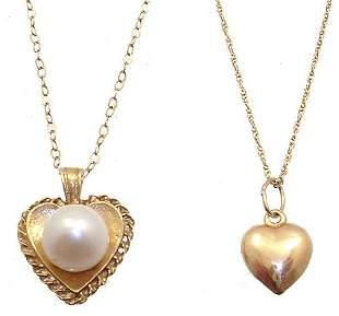 14/10KY Grandmom & baby heart necklace