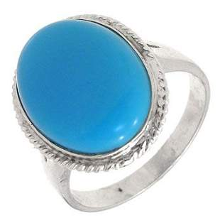 14KW Persian Stabilized Turquoise med ring