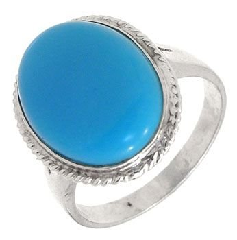 2283: 14KW Persian Stabilized Turquoise med ring