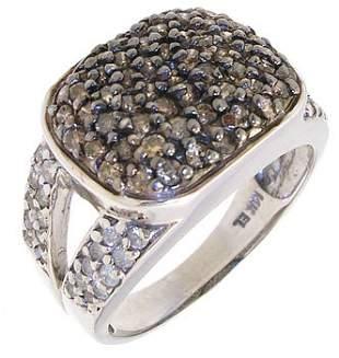 14KW 1cttw Chocolate & White diamond ring