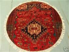 2345: Round Persian Shiraz Rug 4x4