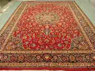 2374: Stunning Large Persian Mashad Rug 12x10