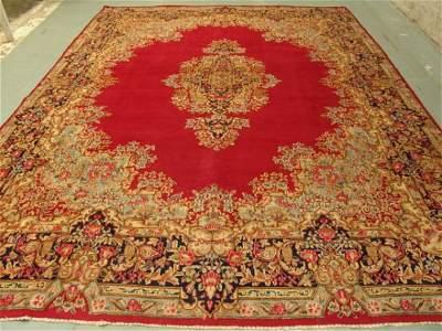 2424: Stunning Large Persian Kirman Rug 13x10