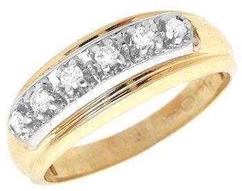 3252: yg 1/5ctw Diamond Mans Ring Band