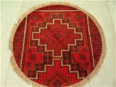 3320B: Round Persian Kashkoli Rug 4x4