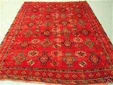 3323: Semi Antique Afghan Kurdish Rug 9x7