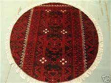 3420: Round Persian Meshkin Rug 4x4