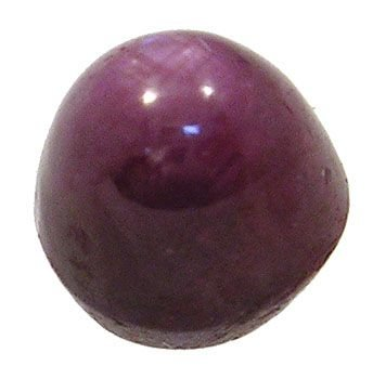 4007: 5 ct Bullet Star Ruby Cabachon Stone