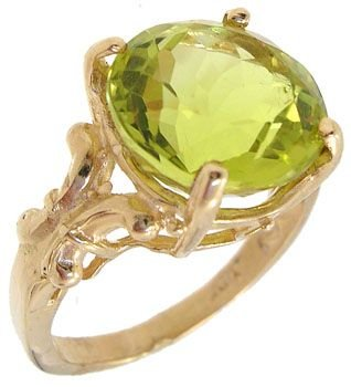4014: KY 4ct Lemon Citrine round ring
