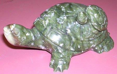 4022: Nephrite Jade Turtle w/ Baby