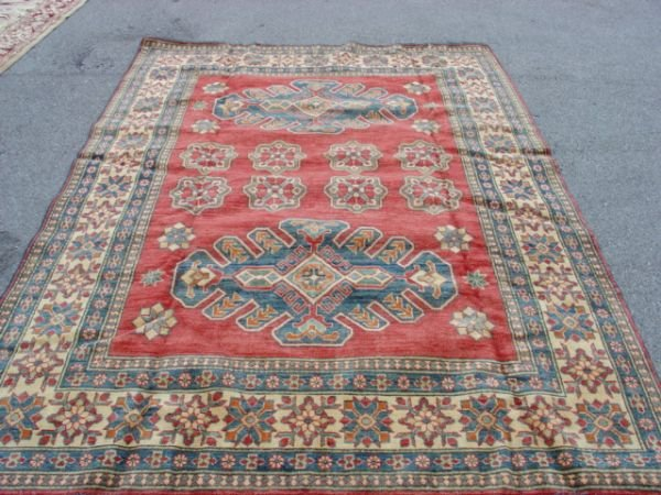 4098: Vegetable Dye Caucasian Kazak Rug 8x6