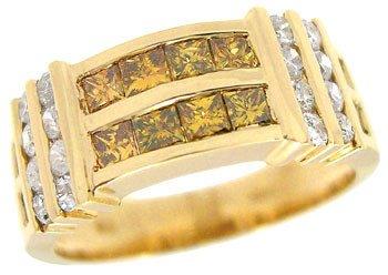 4119A: 14YG 1.22cttw Golden diamond band ring