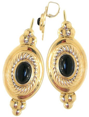 250: 14 KYG 2 cttw Sapphire Cabachon leverback earrings