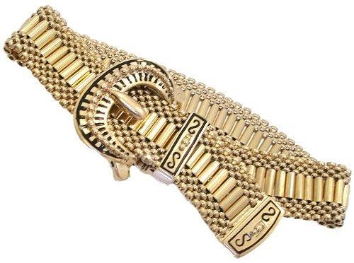 339: 14KYG Antique Buckle Bracelet 47.4gram