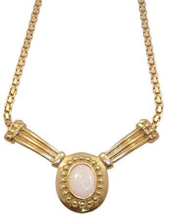 1262: 14KYG 2 cttw Opal Necklace