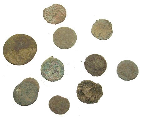 1368: Wholesale 10 piece lot of uncleaned Roman coins