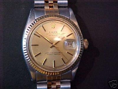 1418: Authentic Rolex 18K/SS Gents Watch